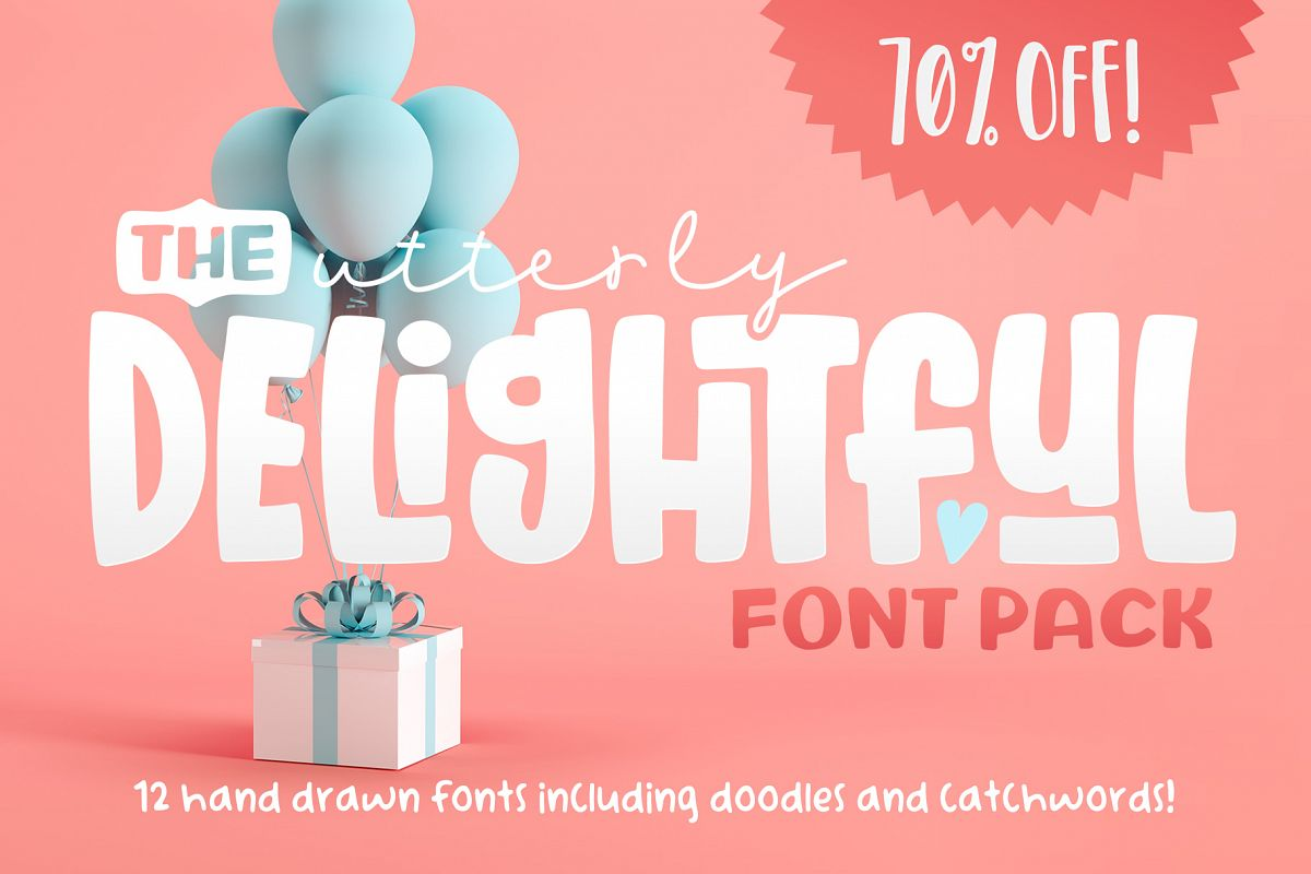 The Utterly Delightful Font Pack example image 1