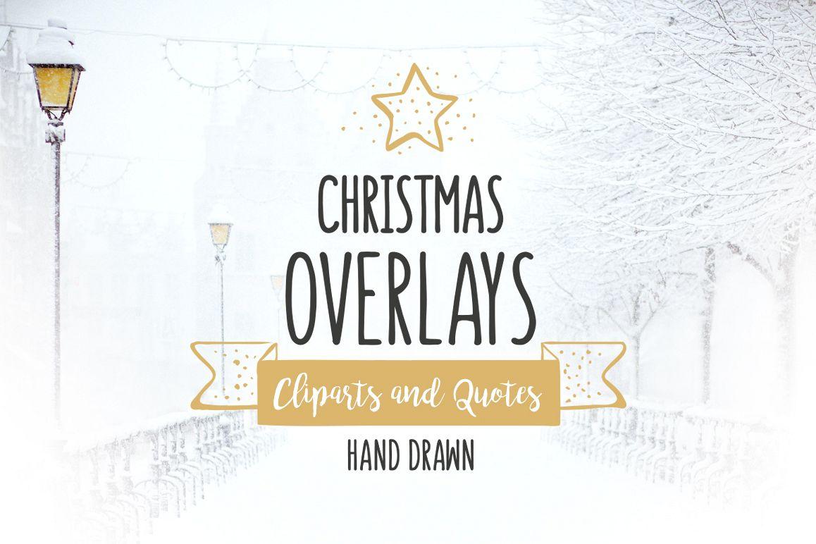 Christmas Overlays – Vector Set example image 1