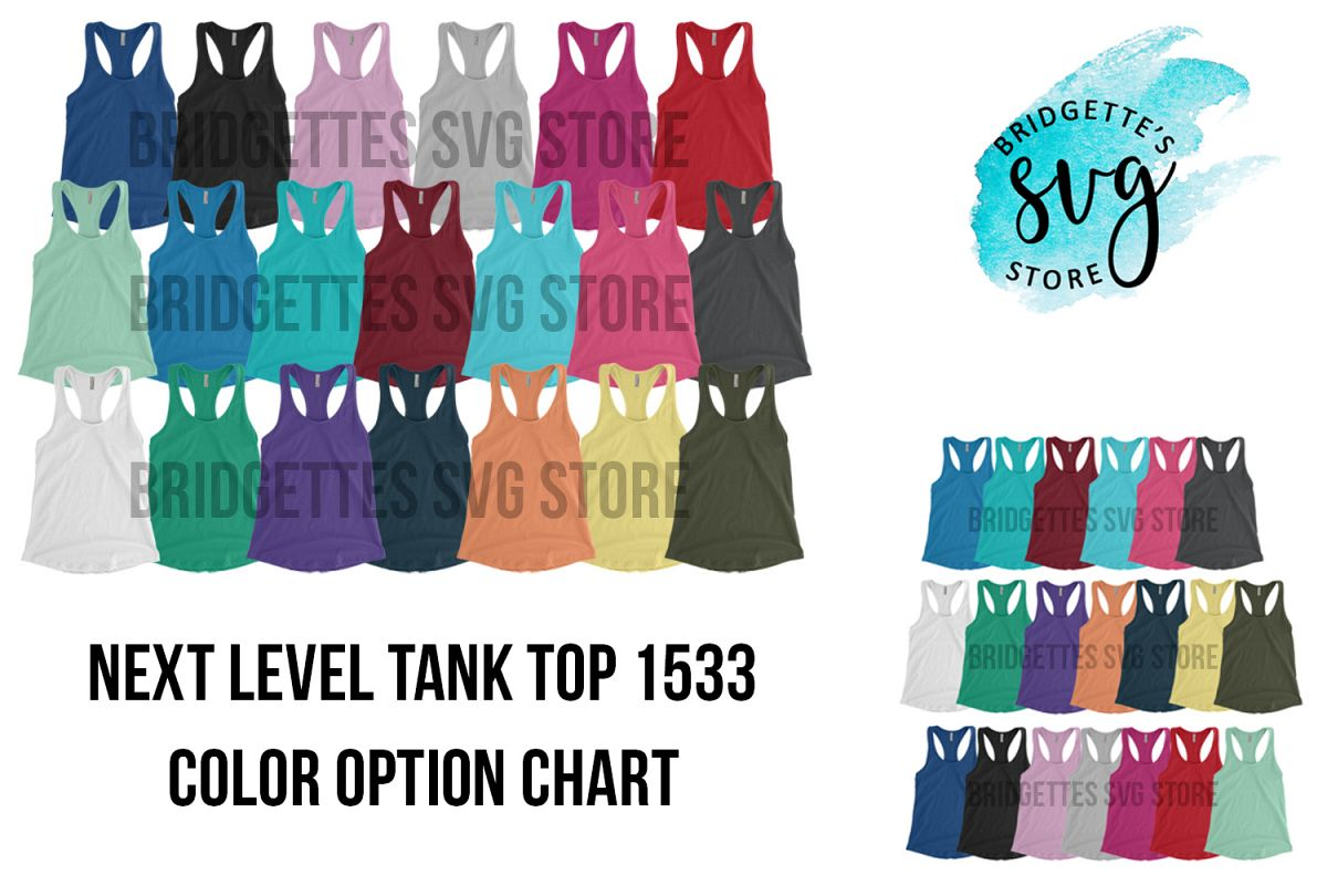 Next Level 1533 Mockup Tank Top Mockup Color Options example image 1