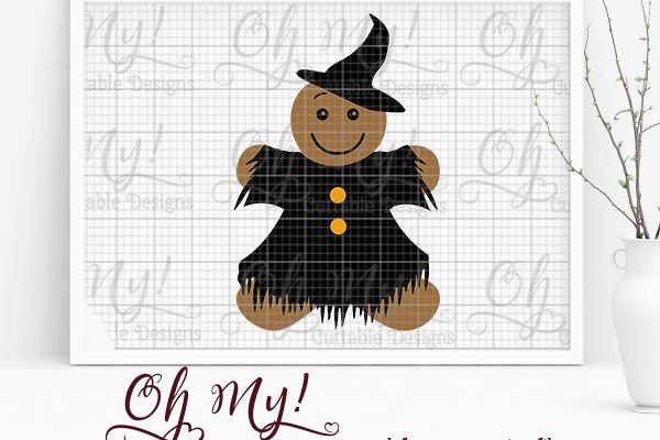 Gingerbread Witch- SVG Cutting File example image 1