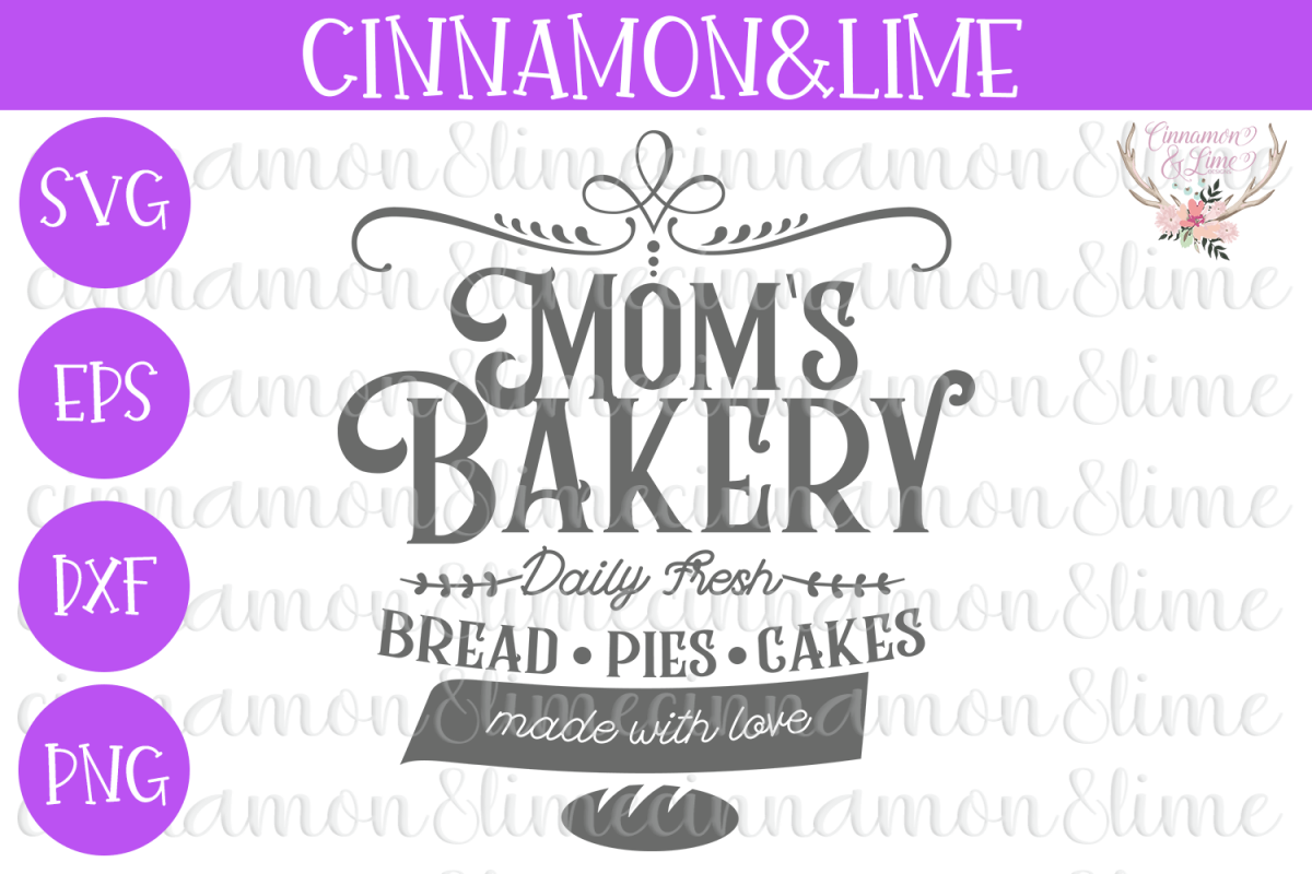 Moms Bakery Vintage Sign SVG