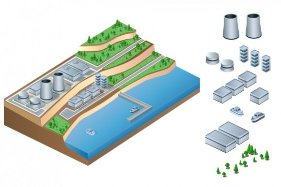 Industrial vector illustration example image 1