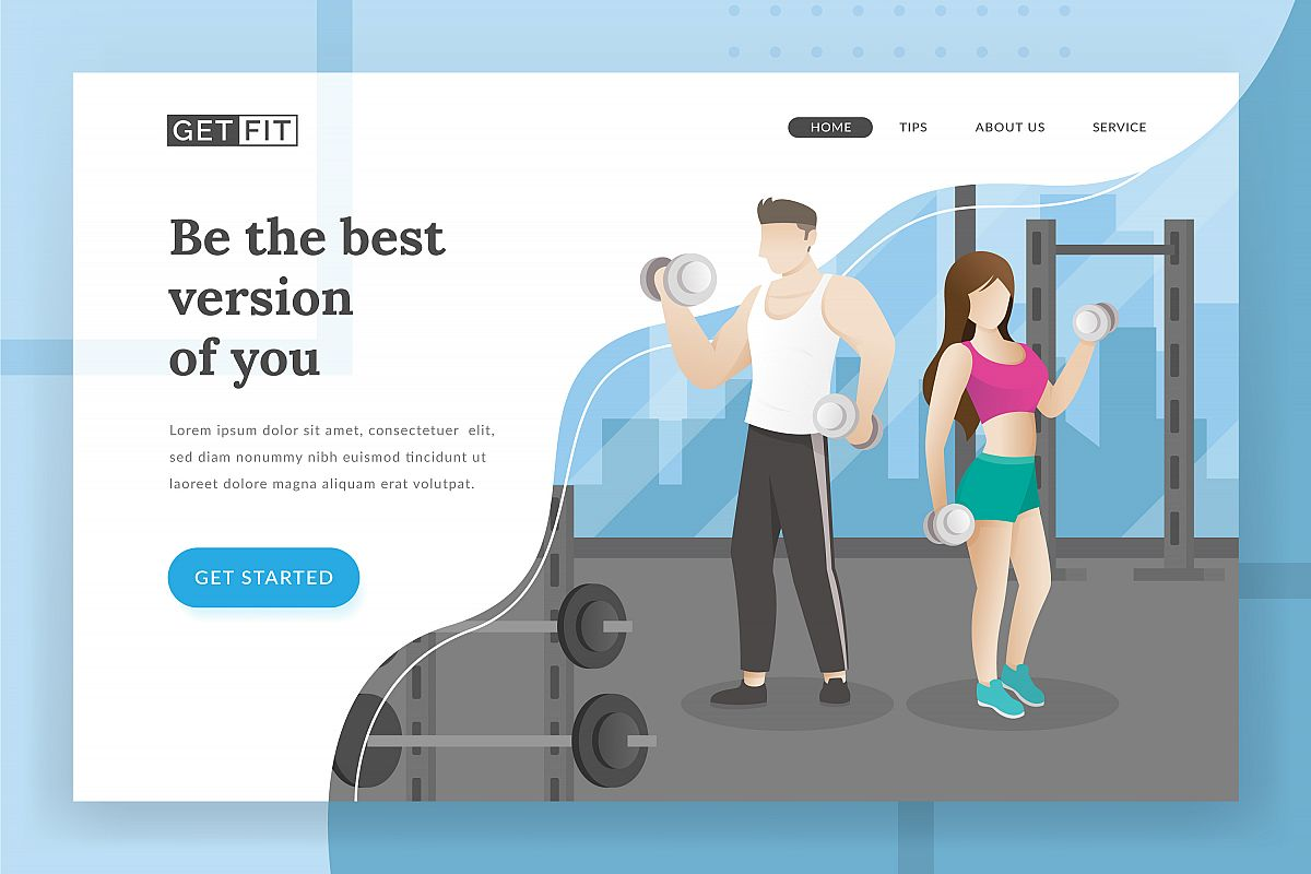 Fitness landing page example image 1