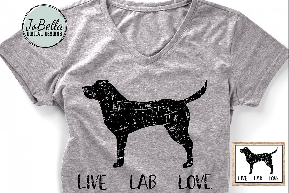 Distressed Labrador SVG and Printable Dog Lover Design example image 1