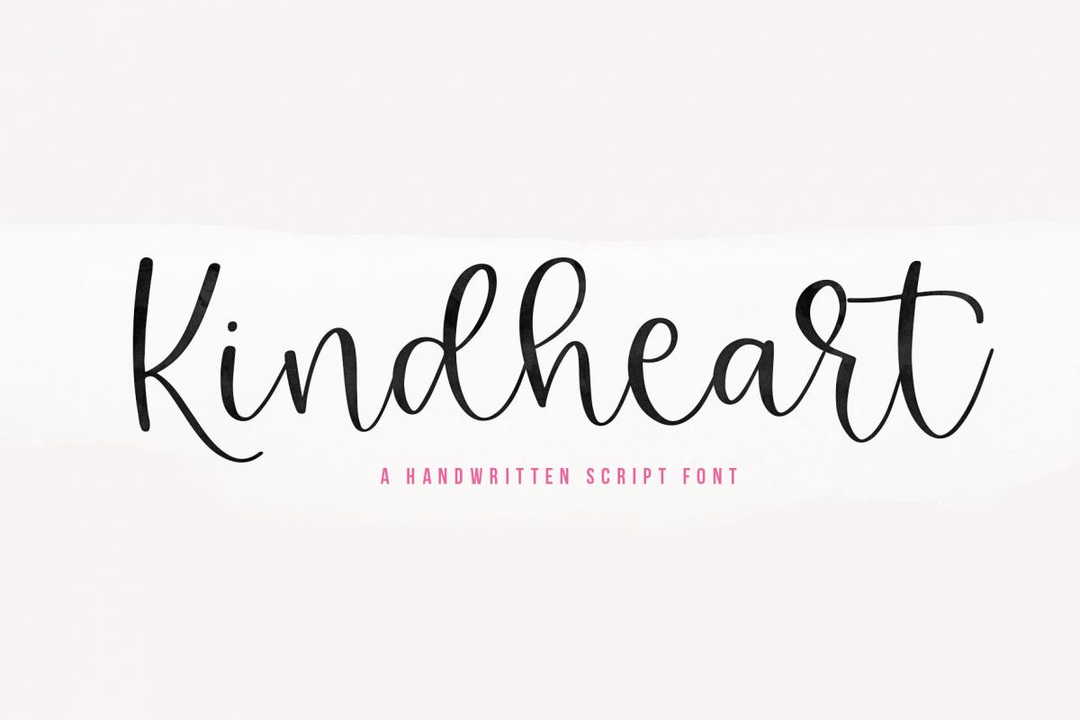 Kindheart - A Handwritten Script Font example image 1