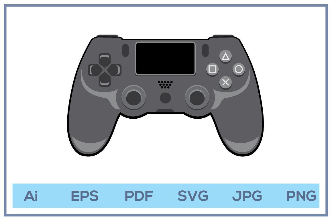Vector of Play station 4 stick controller game console example image 1