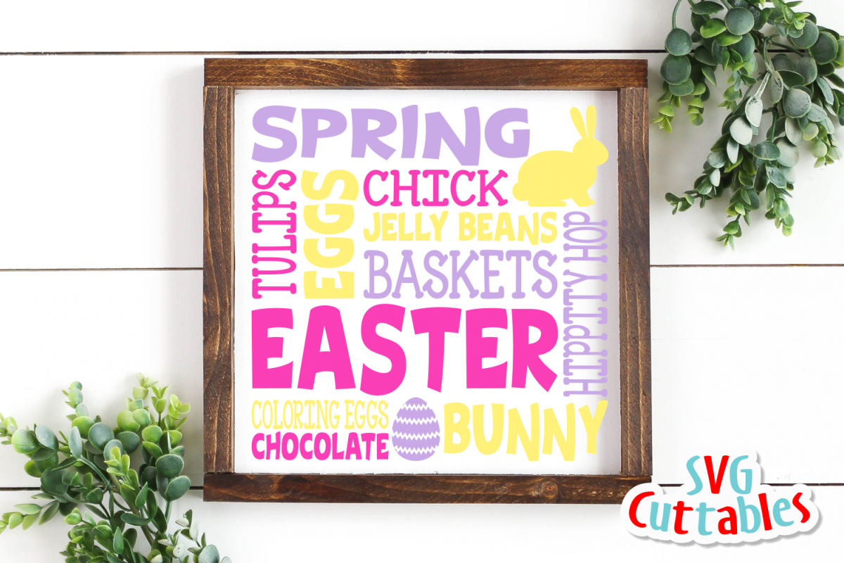 Easter Subway Art | svg Cut File example image 1