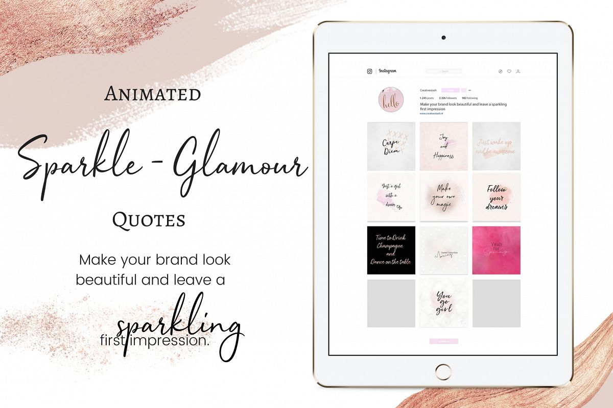 Animated Sparkle - Glamour quotes  example image