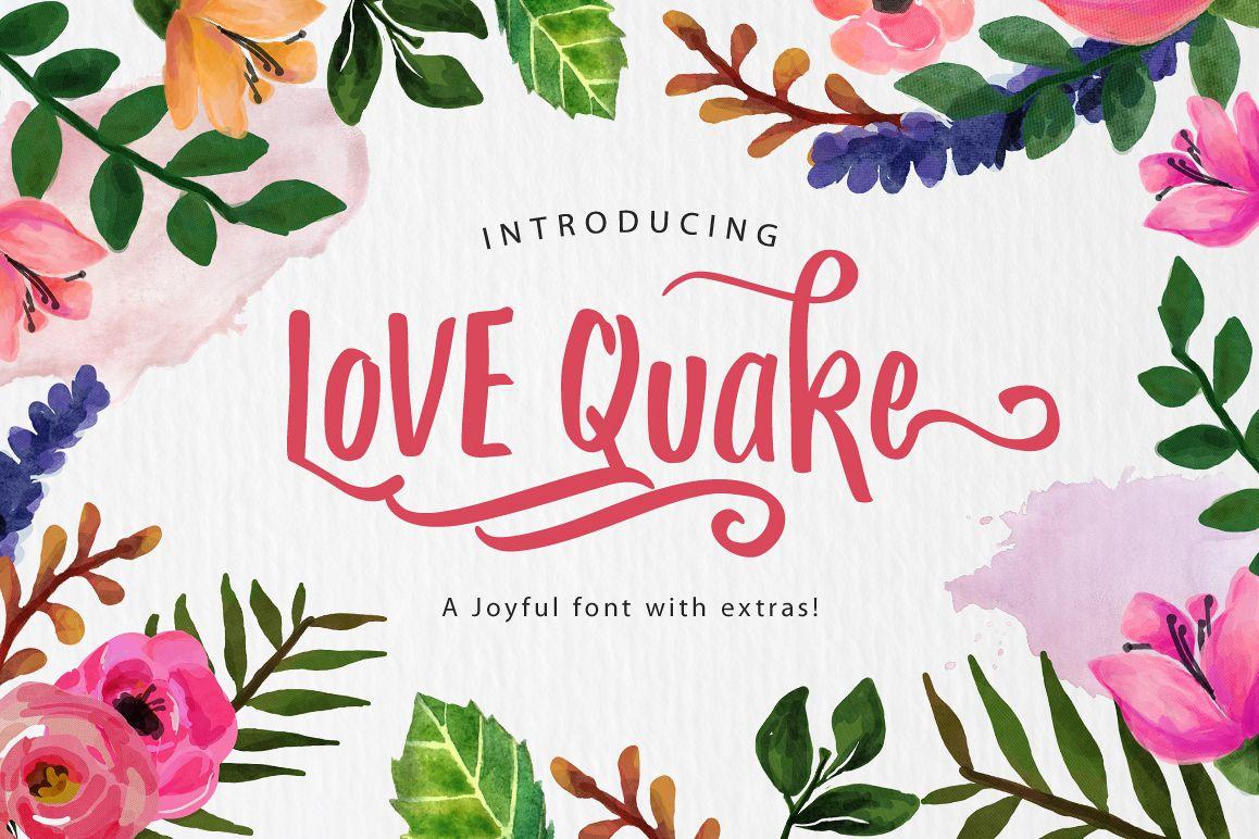 Love Quake Font example image 1