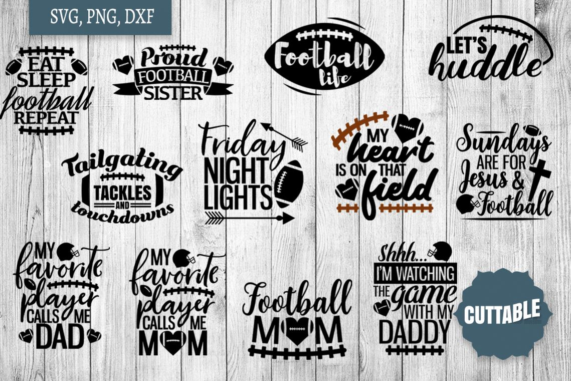 Football SVG bundle, Football player cut files, football svg example image 1
