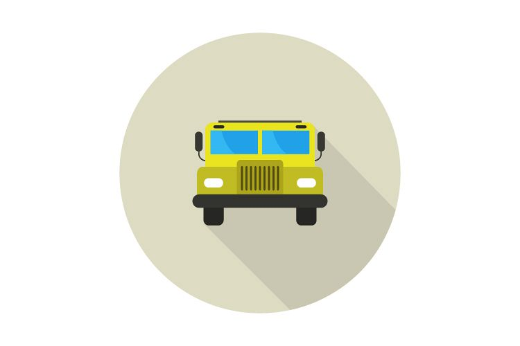 school bus icon example image 1
