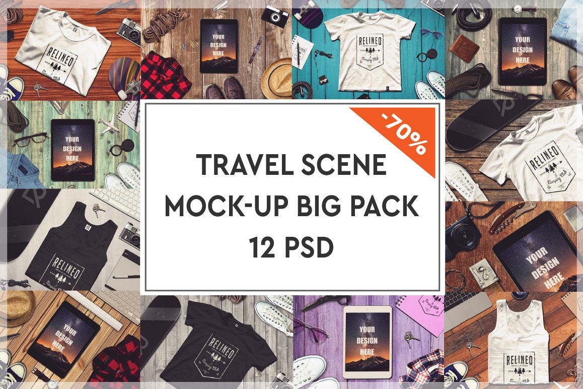 Travel Mock-up Big Pack #1 example image 1