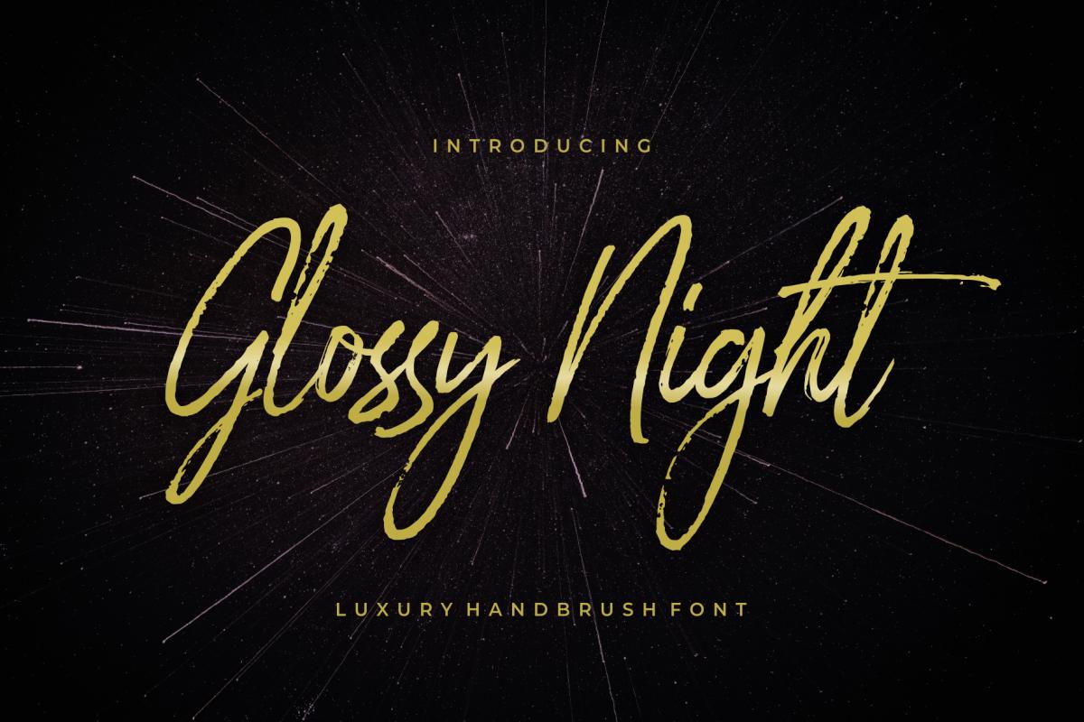 Glossy Night - Luxury Handbrush Font example image 1