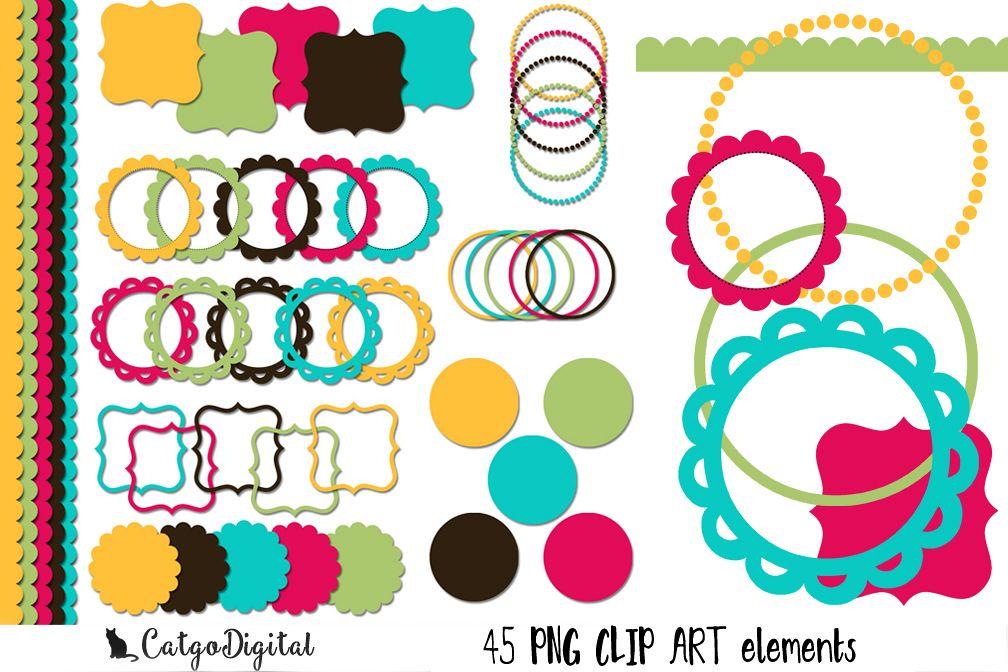 Clip Art PNG Digital Scrapbooking Individual elements example image 1