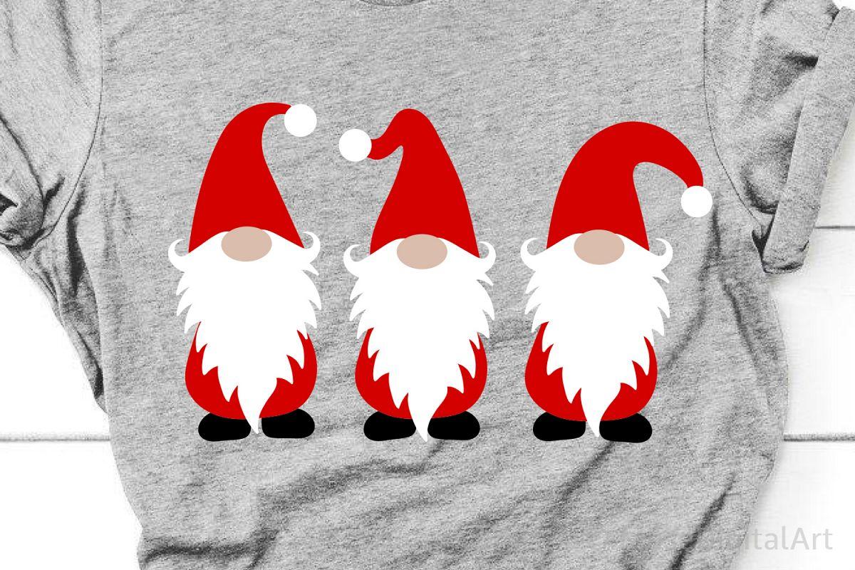 Christmas Gnomes Svg, Christmas Svg, Kids Svg, Cute Svg File example image 1