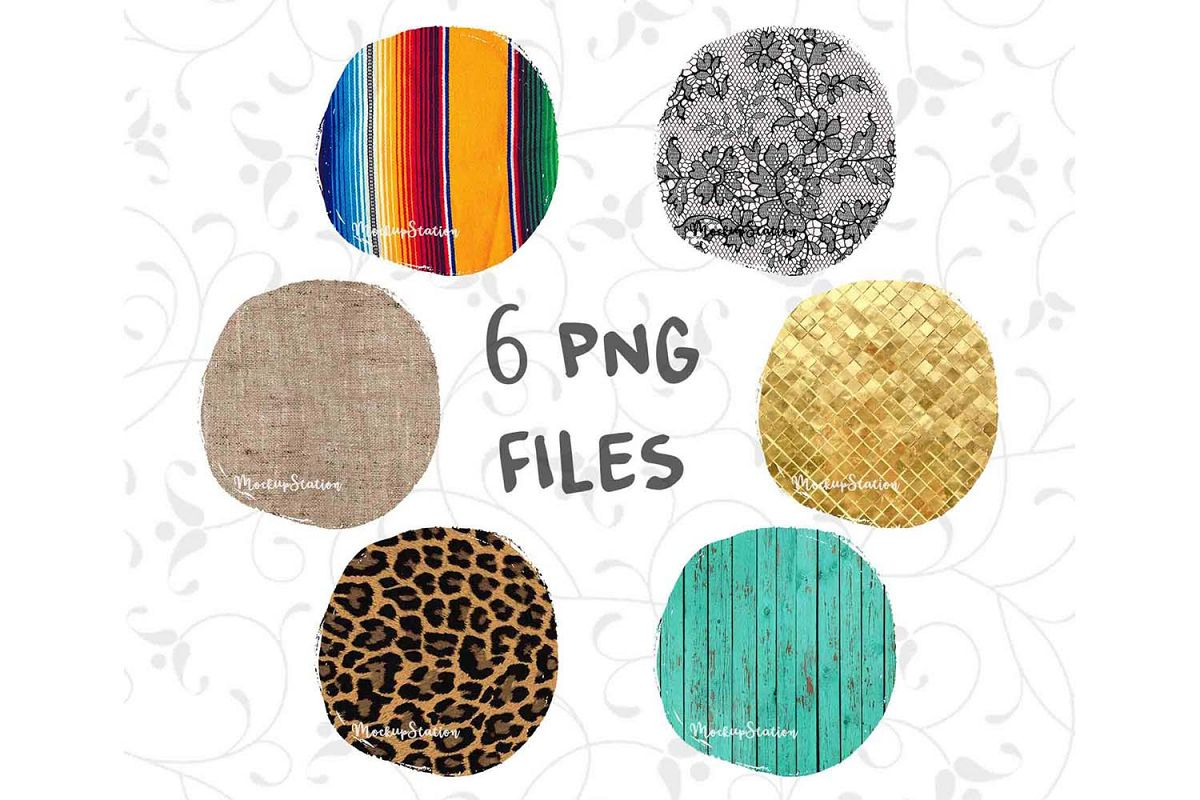 Sublimation Circle Background PNG Bundle, Frame Clip Art example image 1