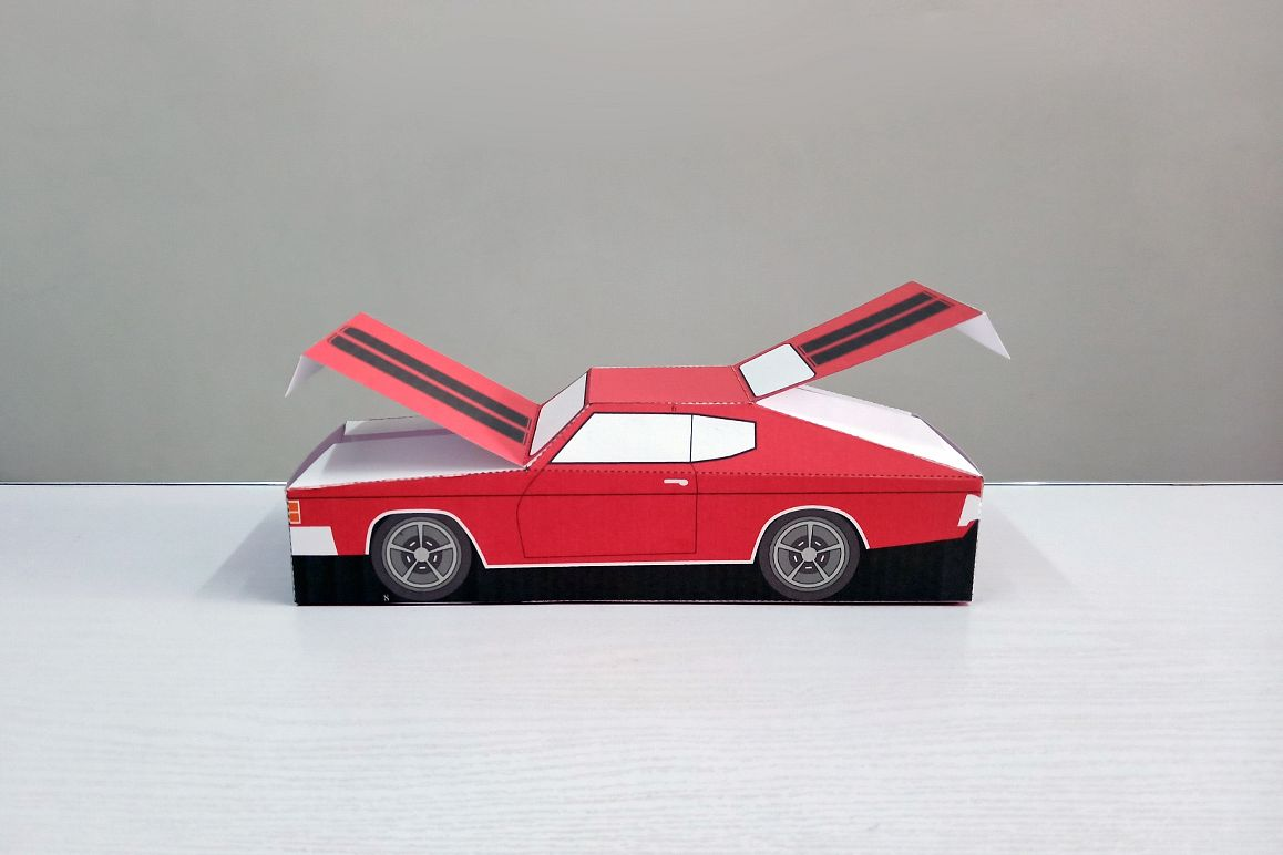 DIY Chevelle Car favor - 3d papercraft example image 1