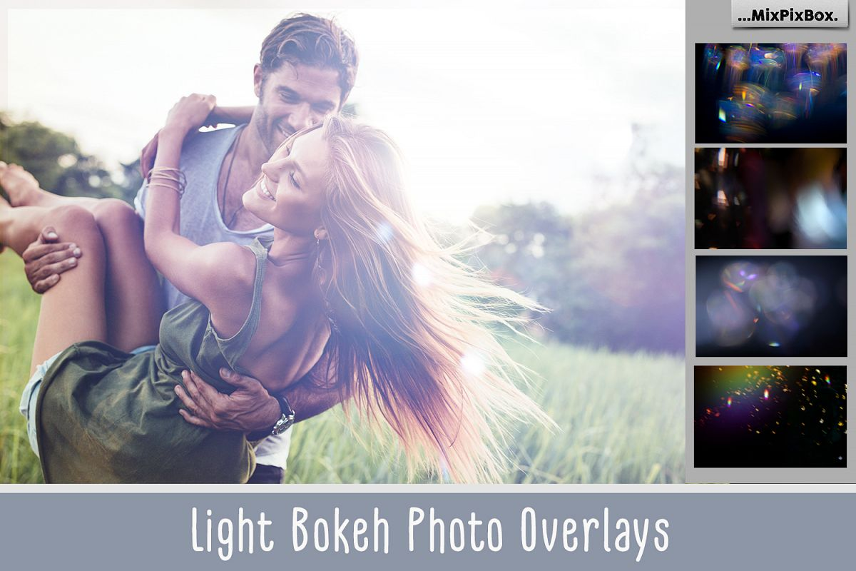 60 Light Bokeh Overlays example image 1