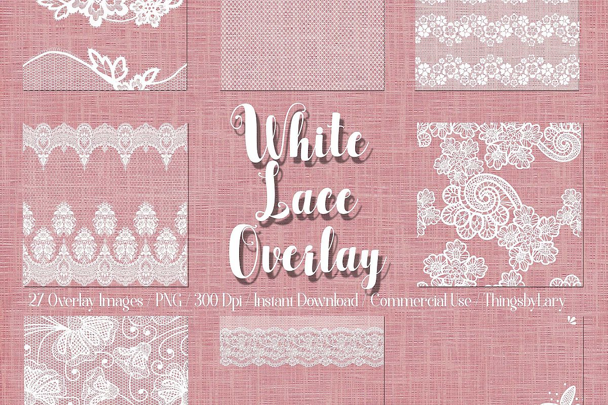 27 White Lace Border Frame Overlay Transparent Images PNG example image 1
