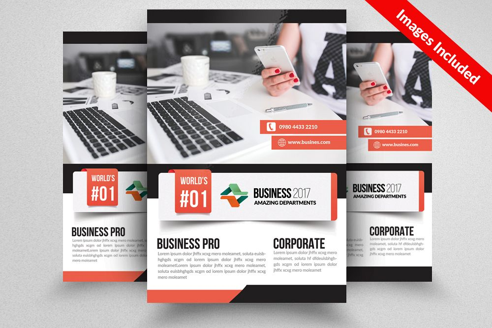 Computer Repair / Data Entry Flyer Templates example image 1