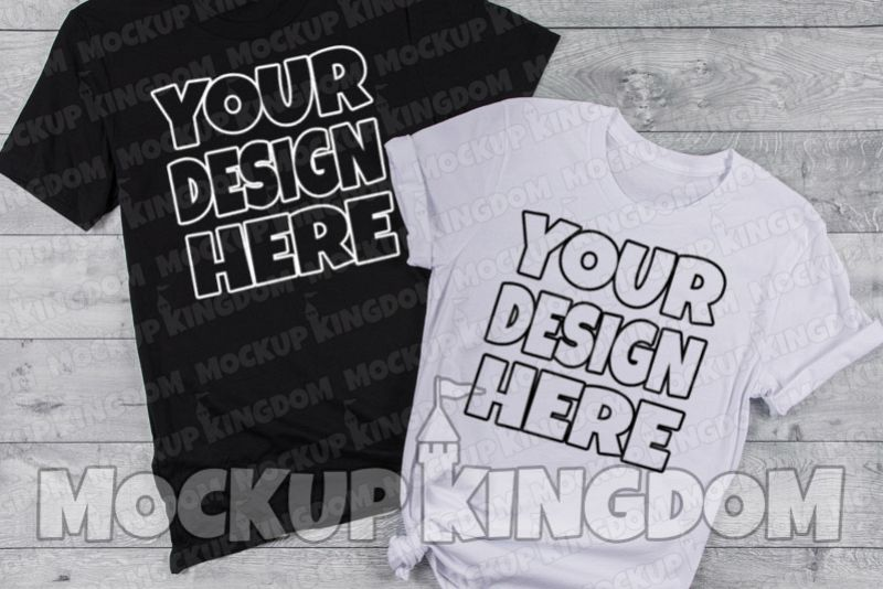 Couples Mockup, Bride and Groom Shirt Mockup, His and her example image 1