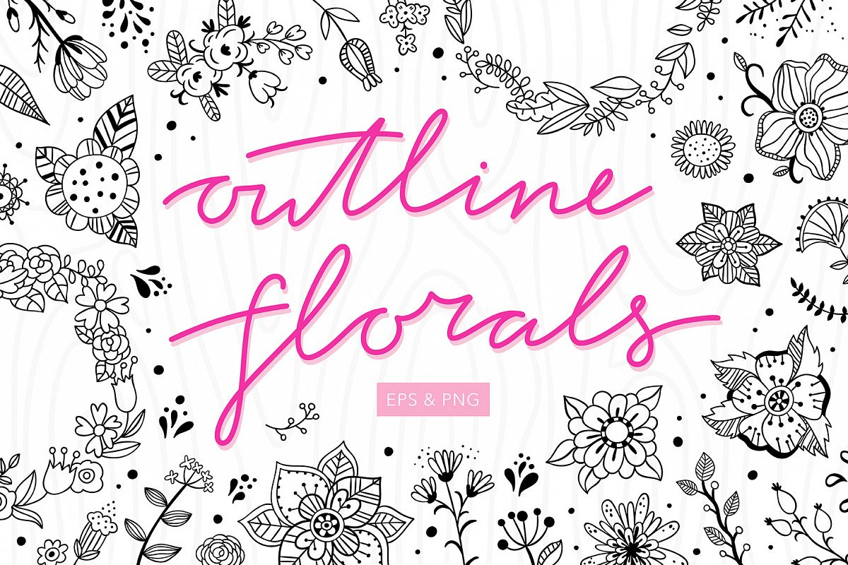 Outline Florals example image 1