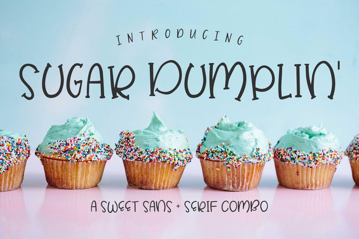 Sugar Dumplin' Sans & Serif Font Duo example image 1