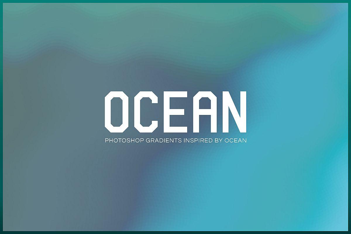 Ocean - Photoshop Gradients Pack example image 1