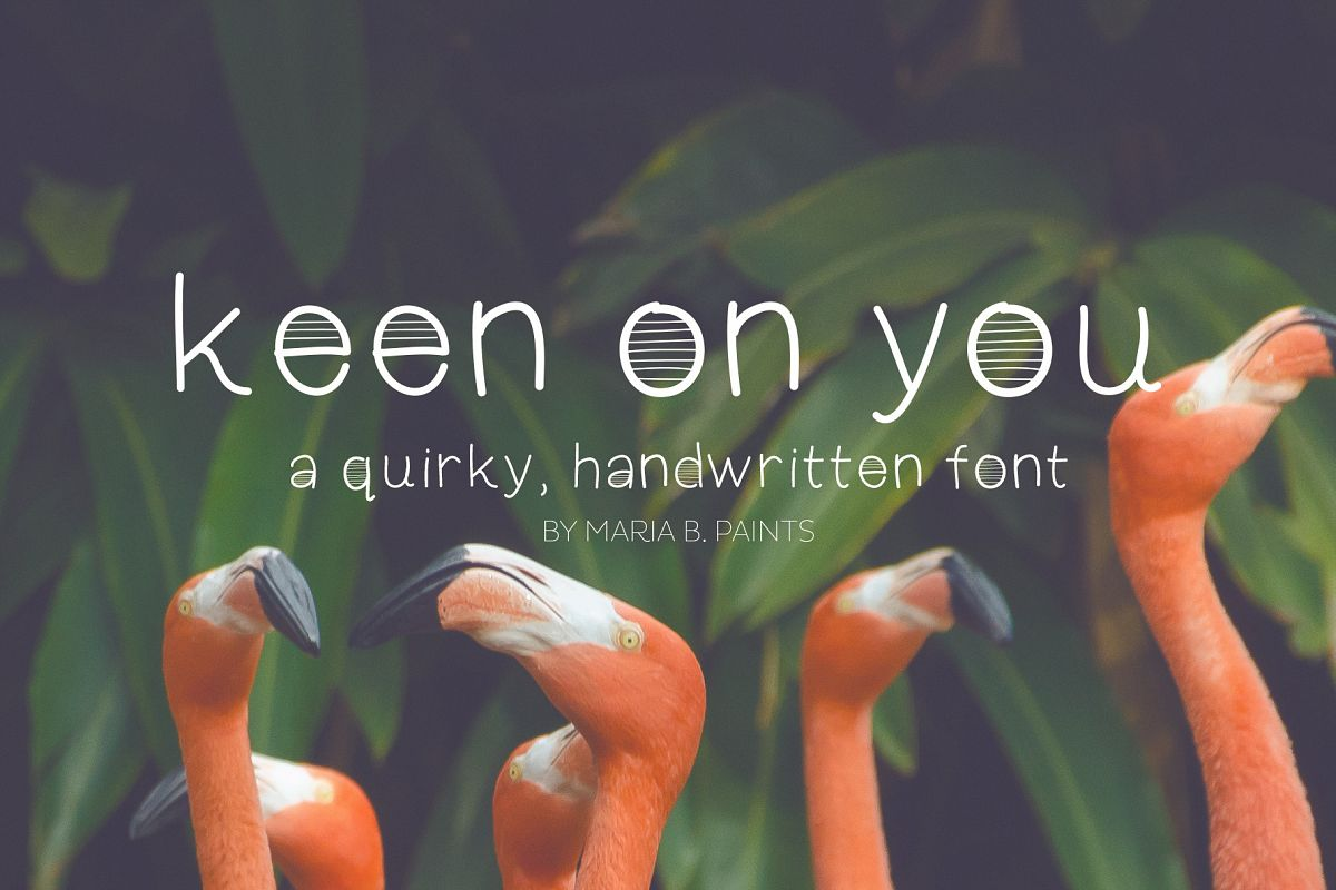 Keen On You a quirky, handwritten font with skinny lines example image 1