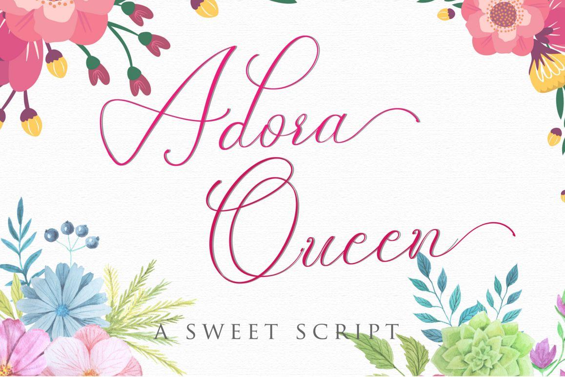 Adora Queen Sweet Script example image 1