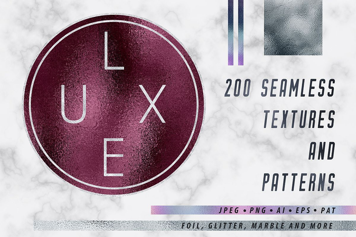 Luxe - 200 Textures and Patterns - Foil, Glitter, Marble example image 1