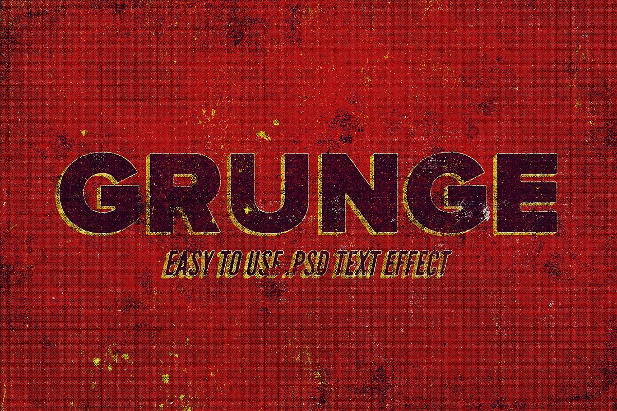 Grunge - Vintage Text Effect example image 1