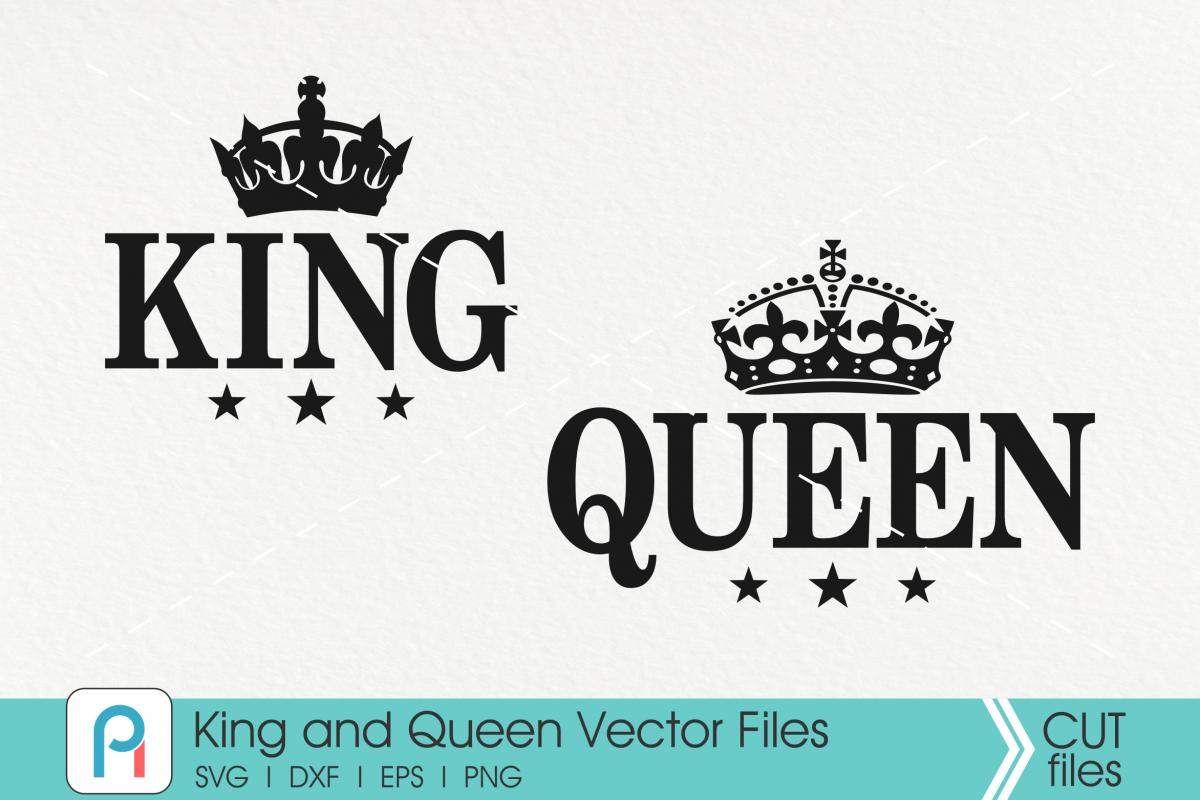 King Svg, Queen Svg, Crown Svg, King Clip Art, Svg File example image 1