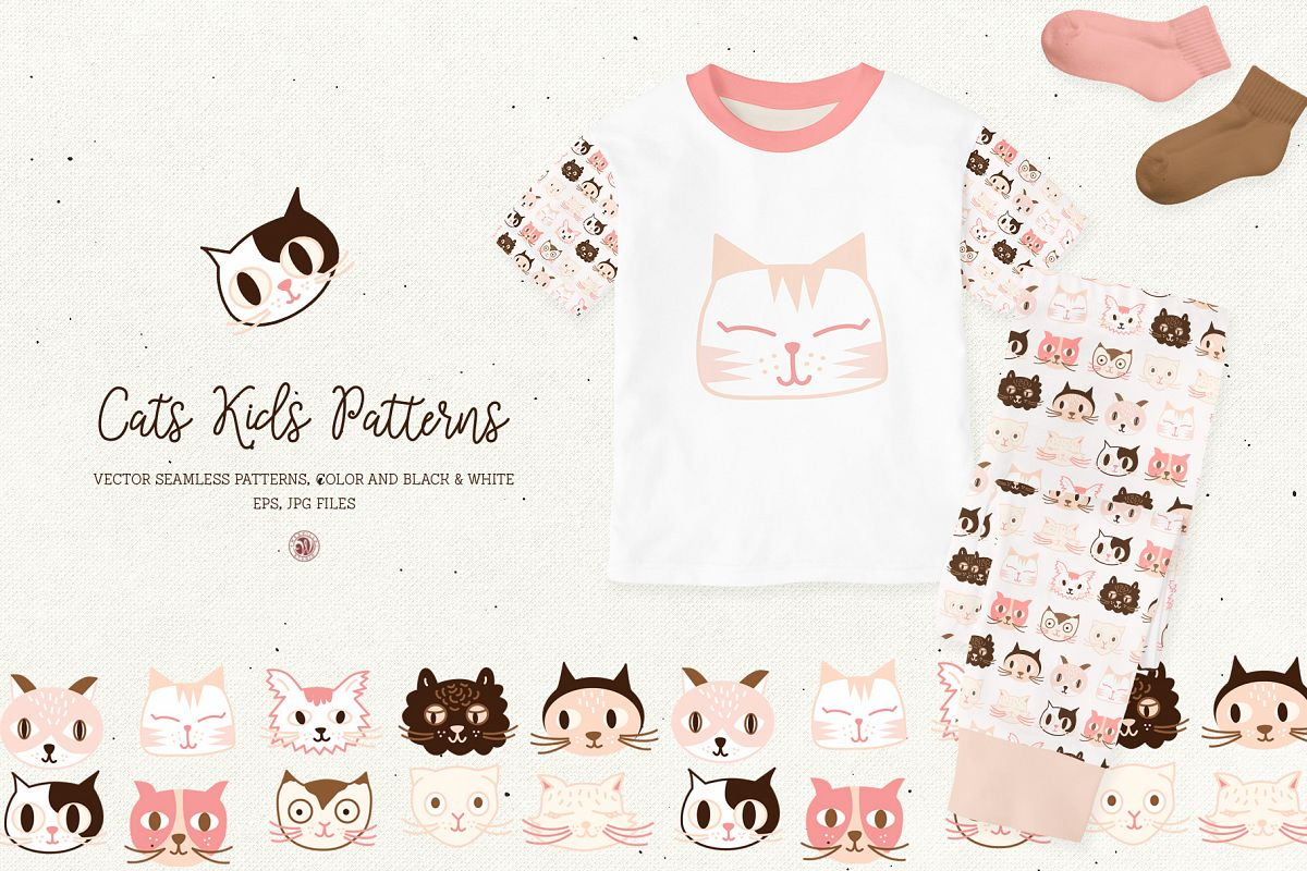 Cats Kids Patterns example image 1