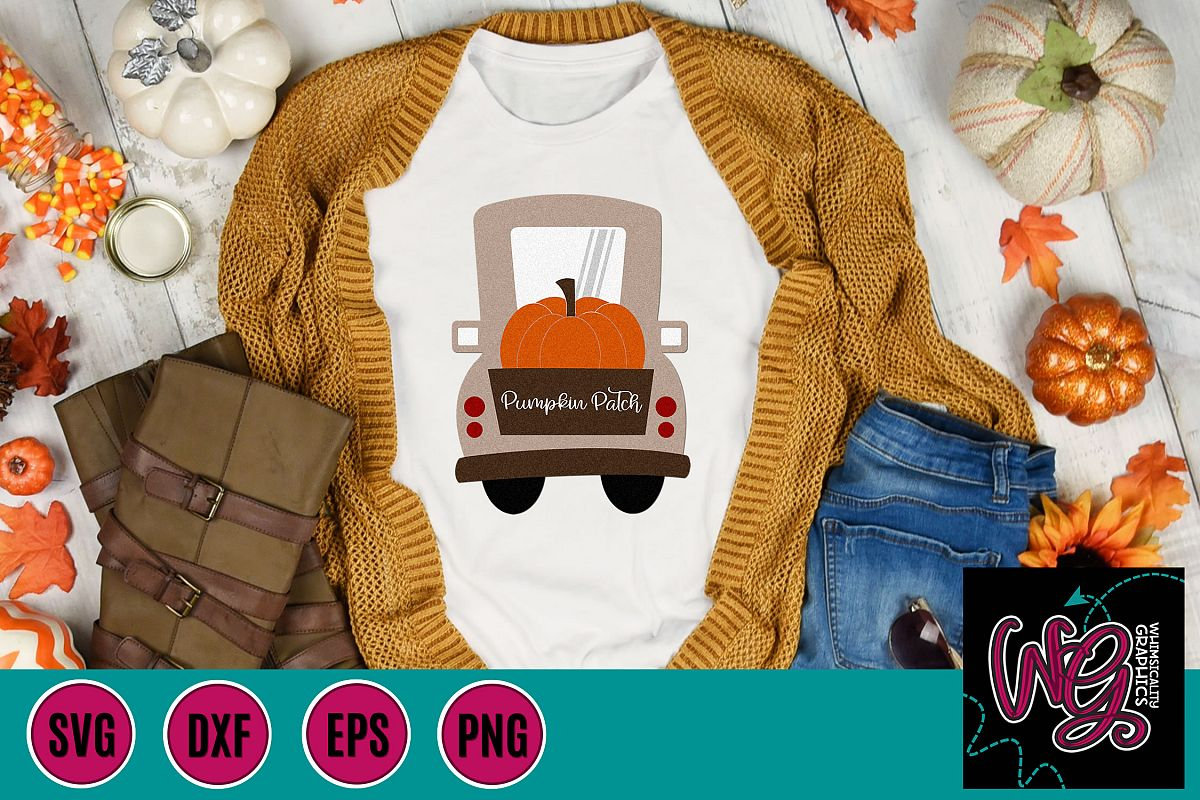 Pumpkin Patch Whimsy Truck SVG, DXF, PNG, EPS example image 1