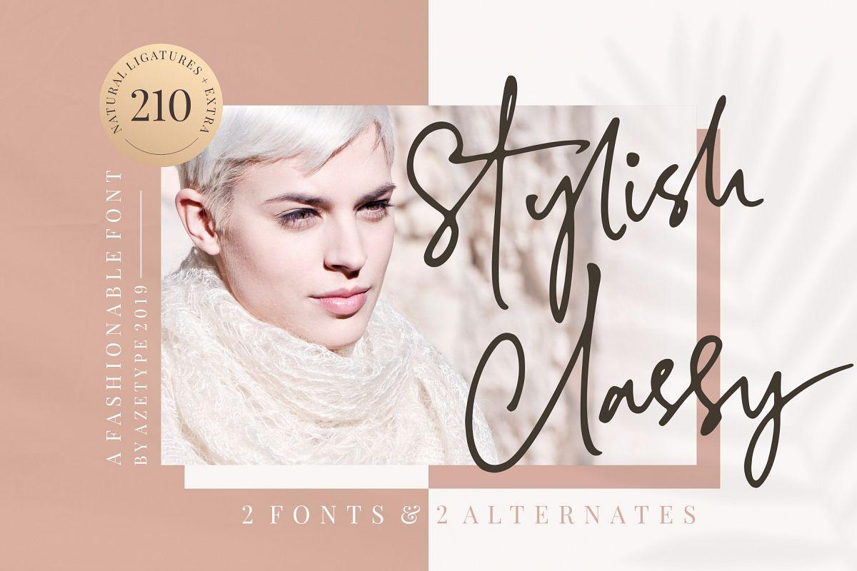 Stylish Classy // 2 Fonts example image 1