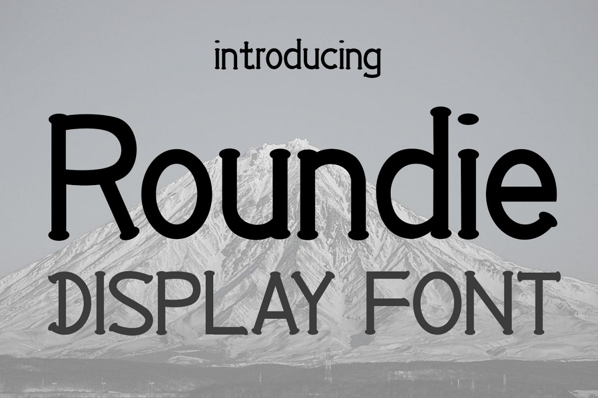 EP Roundie- Display Font example image 1