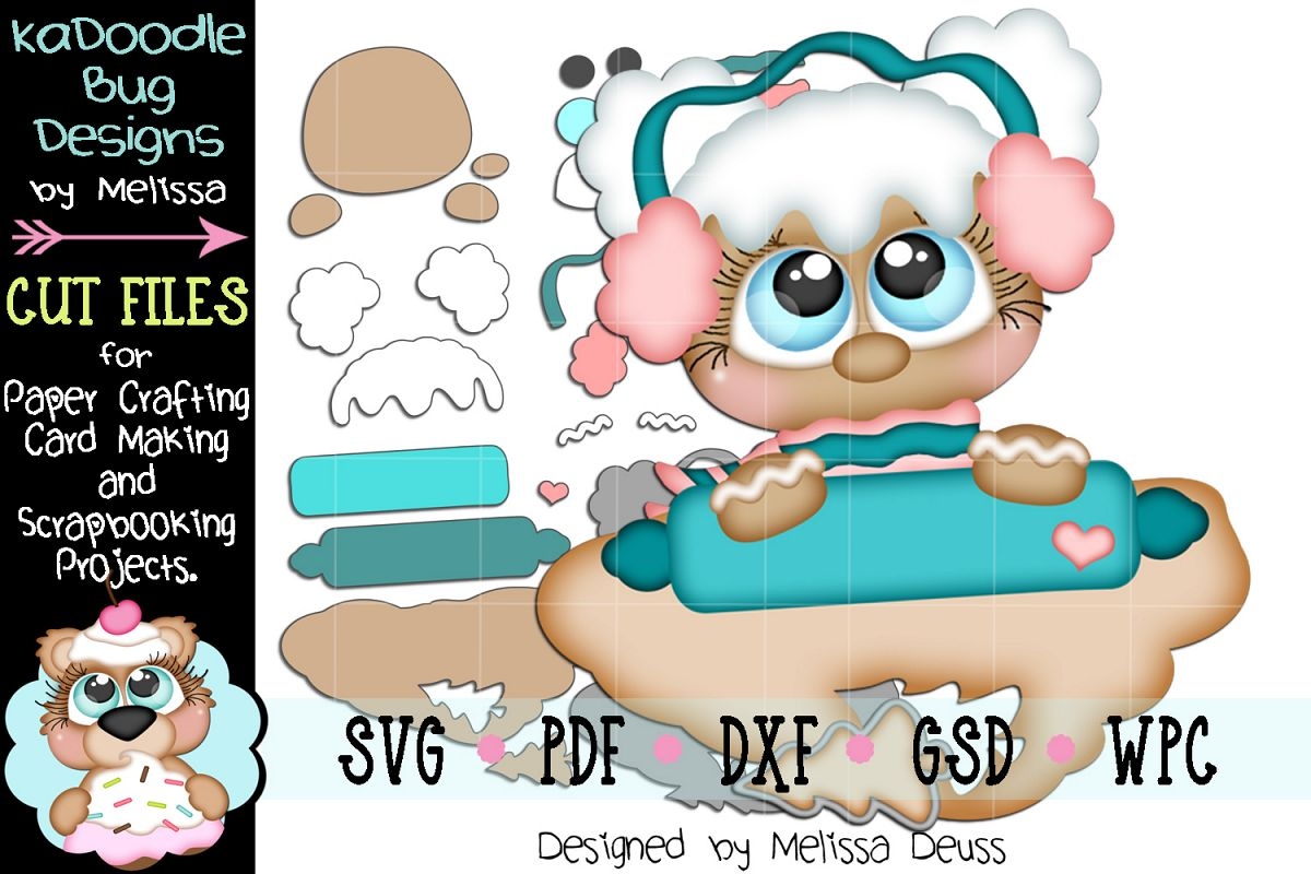Cookie Dough Ginger Girl Cut File - SVG PDF DXF GSD WPC example image 1