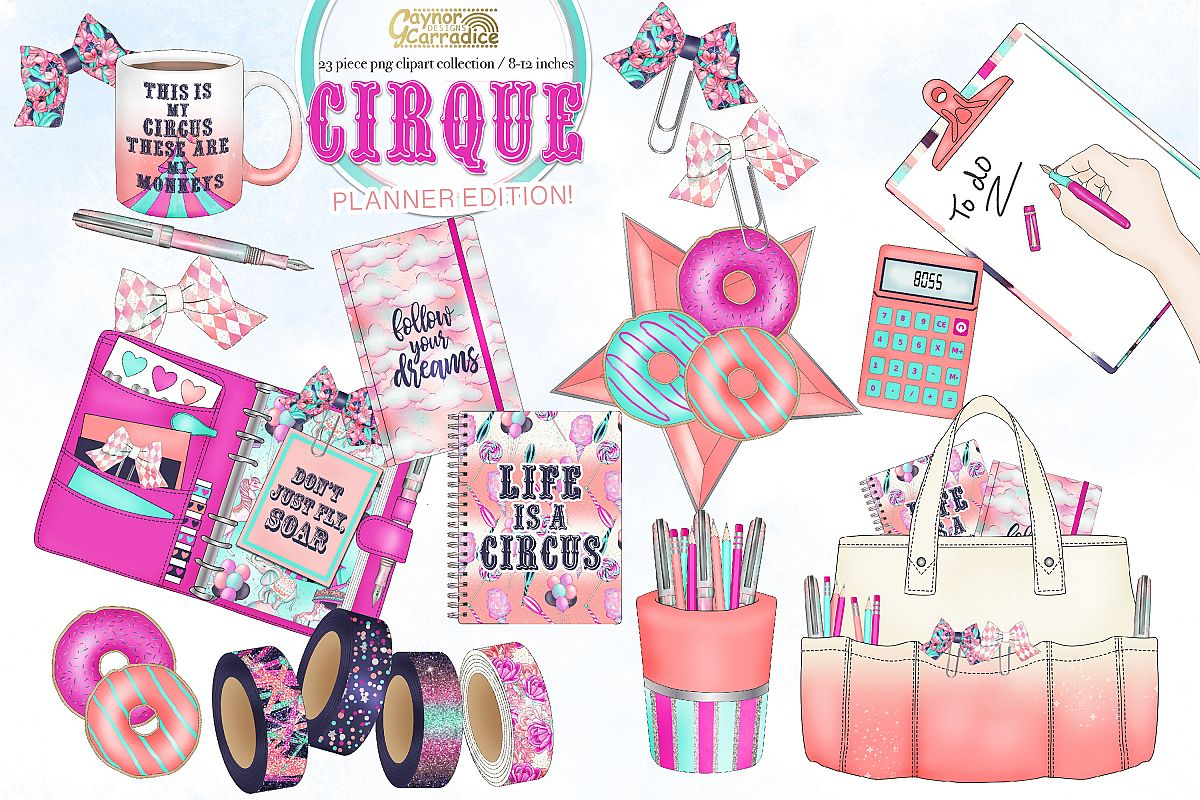 Cirque - circus planner clipart collection example image 1