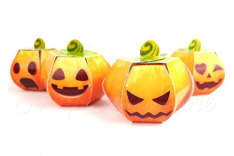 Box pumpkin hallowenn Cut Files example image 1