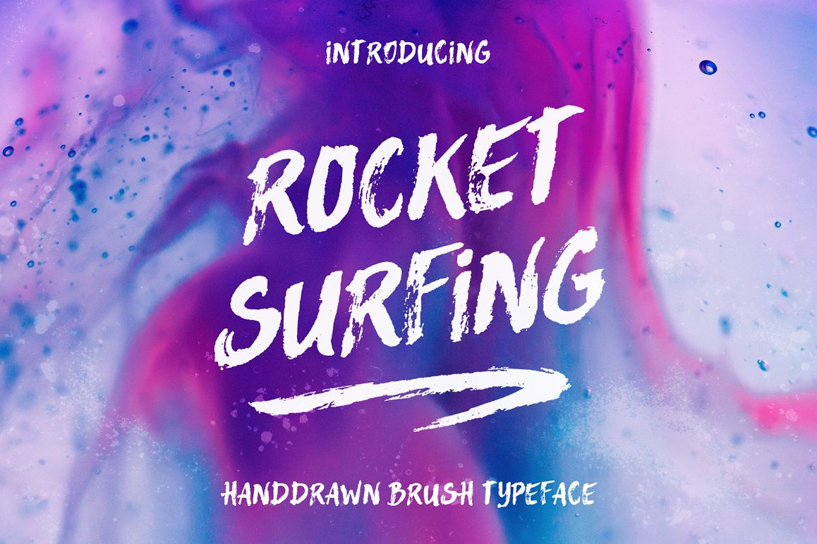 Rocket Surfing Font + Extras example image 1