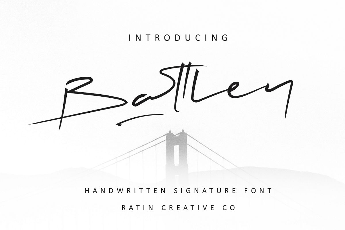 Battley Handwritten Signature example image 1