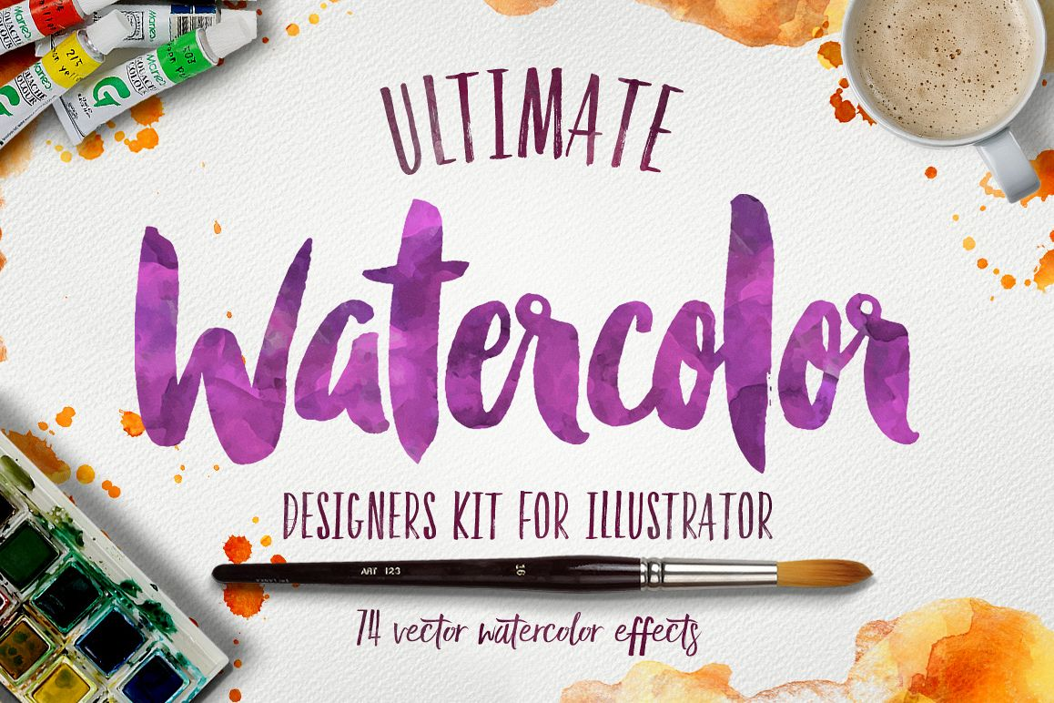 Watercolor KIT for Illustrator example image 1