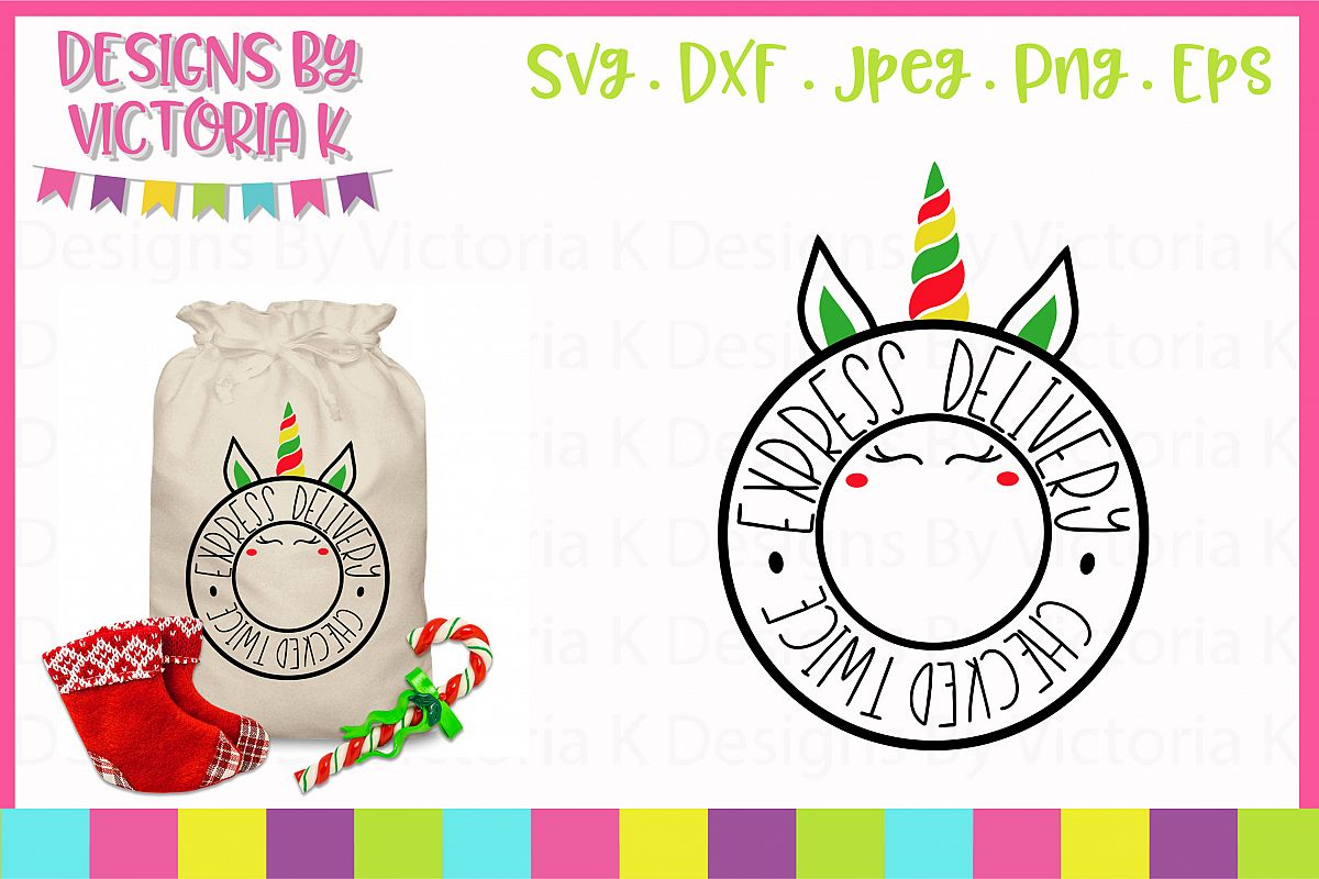 Express Delivery Unicorn Mail SVG, DXF example image 1