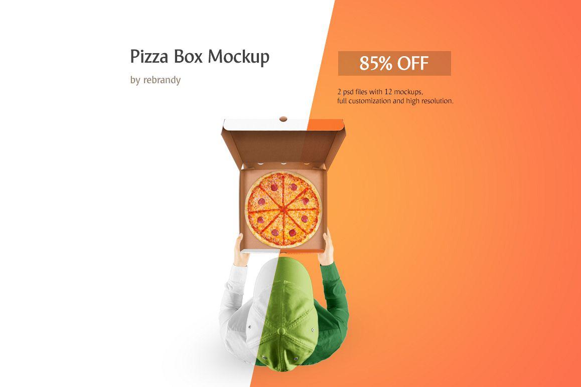 pizza box mockup example image 1