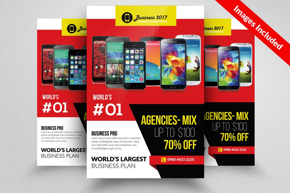 Mobile Apps Company Flyer Templates