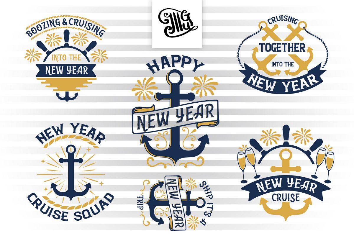 New Year Cruise svg bundle example image 1