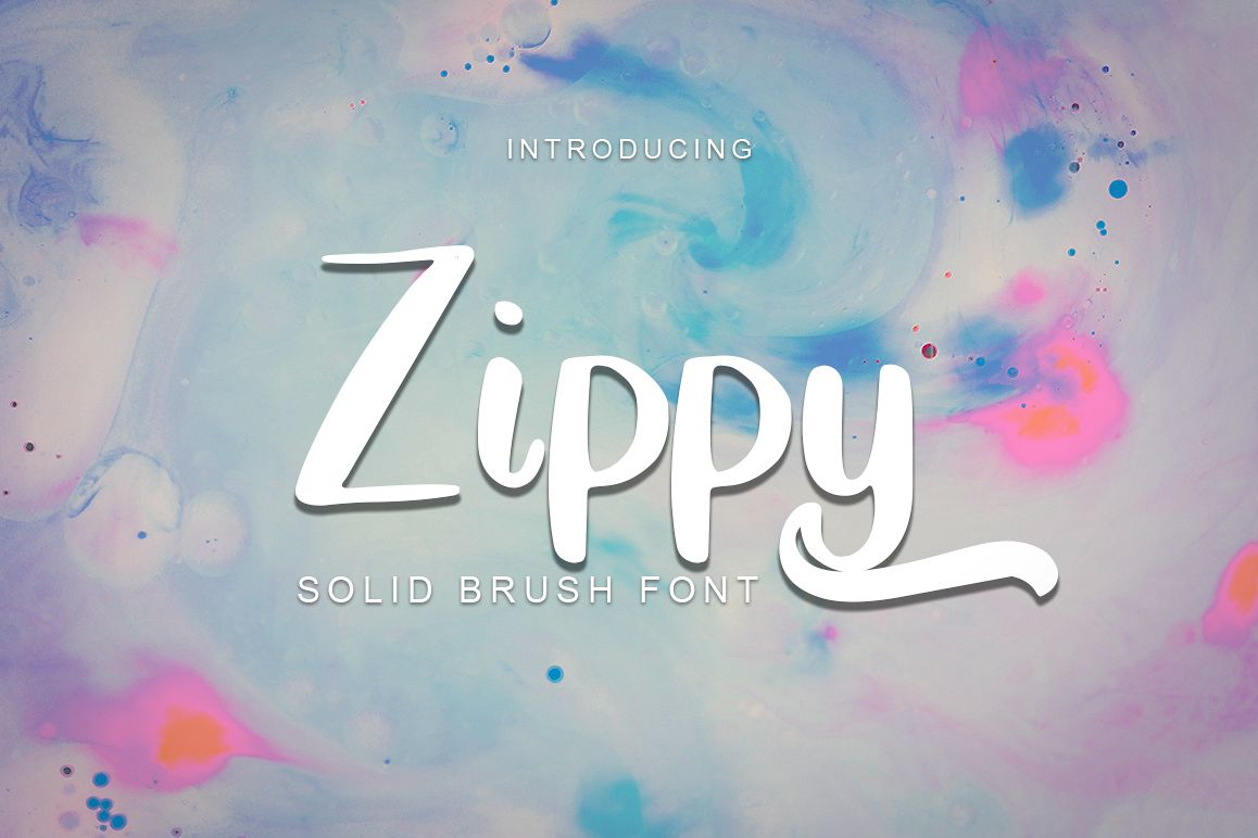 Zippy - Solid Brush Font example image 1