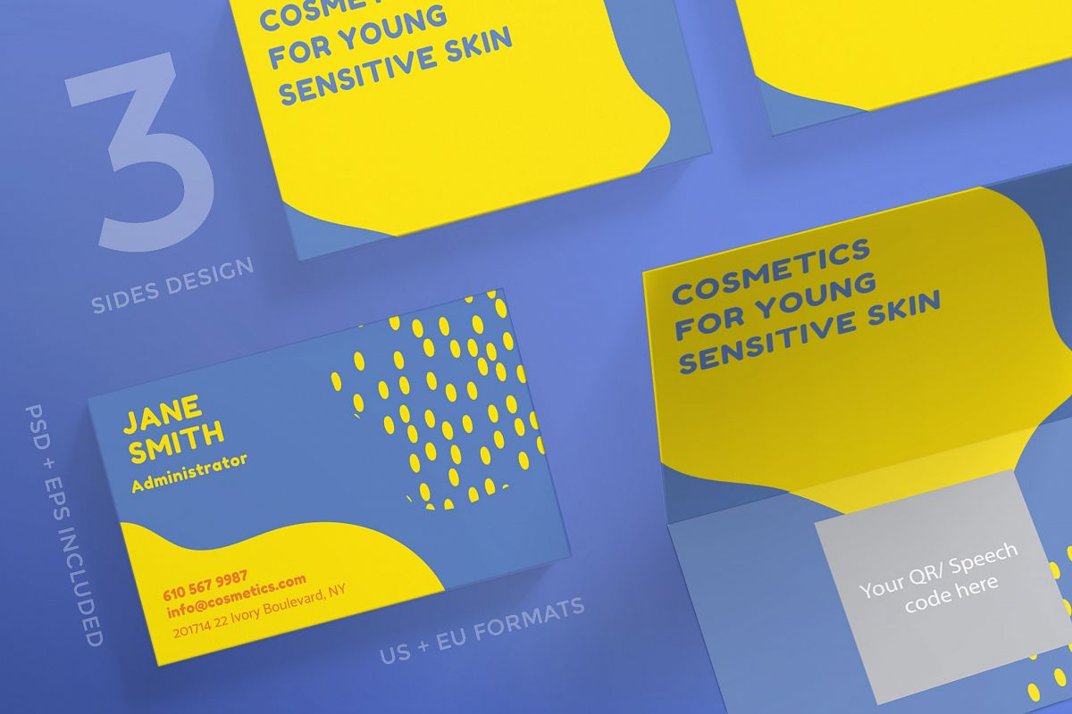 Cosmetics for your skin business card design templates kit cosmetics for your skin business card design templates kit example image 1 fbccfo Images