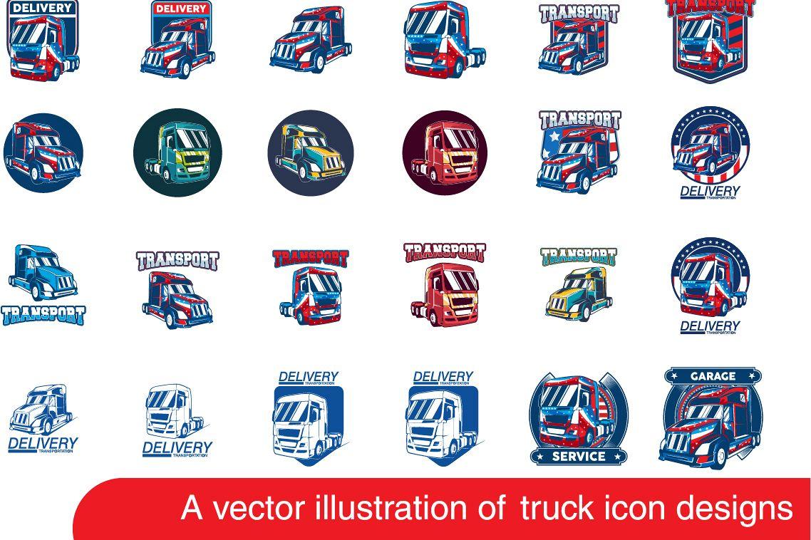 Truck vector logo example image 1